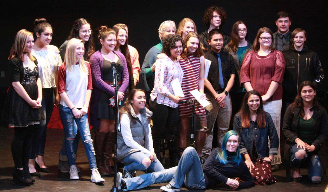 Student competitors at Calaveras County  2019 Poetry Out Loud