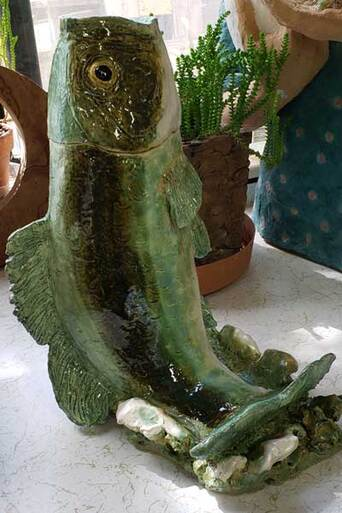 Ceramic Big Mouth Bass